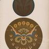 Two circular compositions of new style; may be used on the doors of cabinets, or as fillings for circular openings in a frieze.