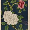 Study of chinese ornament, adapted for a wall decoration. Some of the flowers may be in shades of purple, [...]