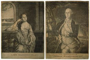 Lady Washington; His Excellency George Washington Esqr.