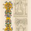 Roi et reine faisant partie de jeu d'échecs dit de Charlemagne; ornement extrait d'un missel du XIe. siècle.