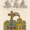 Figures servant à faire connaitre la forme primitive de la couronne de Charlemagne [...]; couronne de Charlemagne conservée à Vienne.