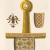 Épée de Charlemagne conservée autrefois à Nuremberg tirée de bel ouvrage sur les ornemens [sic] impériaux.