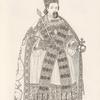 Figure de l'empereur Sigismond, en habit impérial du St. Empire. Tirée de l'ouvrage, publié à Nuremberg, 1790.