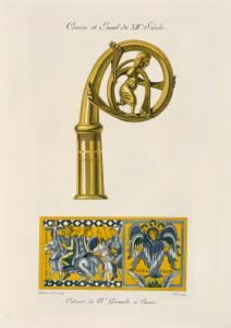 Crosse et email du XIIe. siècle.
