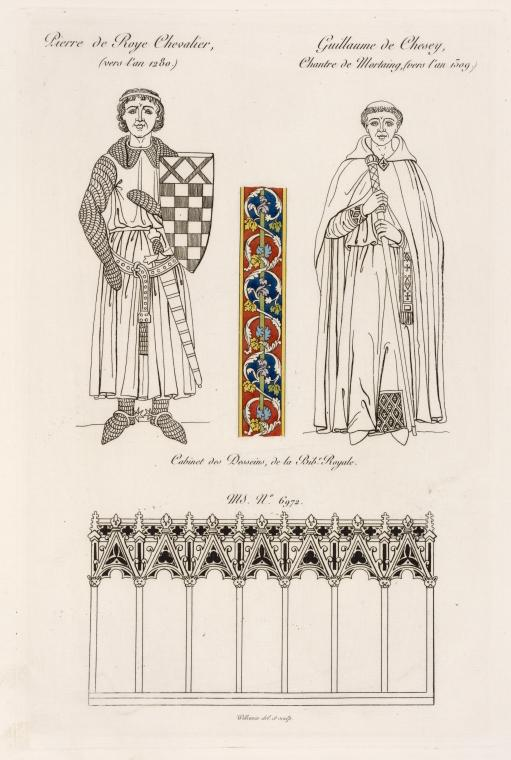 Pierre de Roye chevailier, (vers l'an 1280.); Guillaume de Chesey, chantre de Mortaing, (vers l'an 1509.)