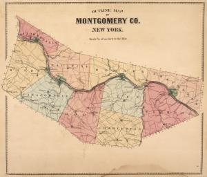 Outline Map of Montgomery Co. New York.