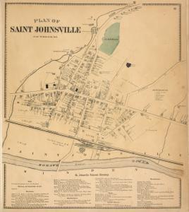 Plan of Saint Johnsville [Village]; St. johnsville Business Directory.