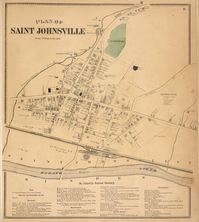 Plan of Saint Johnsville [Village]; St. johnsville Business Directory.