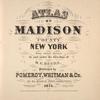 Atlas of Madison County, New York