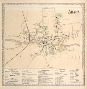 Adams [Village]; Adams Business Directory.