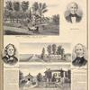 "Maple Hill Farm"" Res. of J. C. Hall, Alexander, Genesee Co., N.Y. ; Johathan Hall. ; Temperance Sullings. ; Old House. ; Wm. Sullings. ; Res. of David Sullings, Esq., Batavia, N.Y."