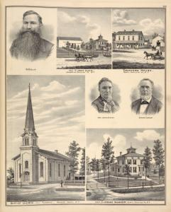 W. E. Babcock. ; Res. of John Hunn, Pembroke, Genesee Co., N.Y. ; Crawford House, Corfu, Genesee Co., N.Y. ; Mrs. Jerome Sumner. ; Jerome Sumner. ; Baptist Church, East Pembroke, Genesee County, N. Y. ; Res. of Jerome Sumner, Corfu, Genesee Co., N.Y.