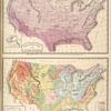 Climatological Map of the United States.; Geological Map of the United States.