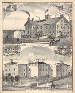 Eagar & Company, Genesee Malt House, Brewery & Wholesale Wine and Liquor Store, Main St., Batavia. ; Fish's Malt House, Established in 1830 Cor. Main and Elm St's, Batavia, N.Y.