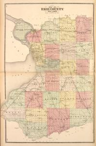 Map of Erie County New York