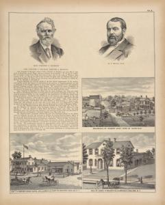 Hon. Timothy A. Hopkins. ; H. P. Trull, M. D. ; Residence of Robert Grey, Town of Newstead ; Hon. T. A. Hopkin's Eagle Hotel, Williamsville, Town of Amherst, Erie Co., N.Y. ; Res. of James H. Magoffin, Clarence Hollow, N.Y.