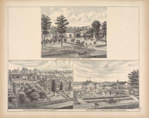 Residence of Geo. B. Ely, Esq., Cheektowaga; Residence of Nelson Reed, West Seneca, N.Y. ; Residence of H. D. Kirkover, Town of West Seneca.