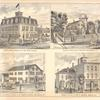Kopp's Hotel, Hamburg, N.Y., Geo. Kopp, Proprietor. ; Residence and Observatory of Milford Fish, Hamburg, N.Y. ; East Hamburg Hotel, T. W. Wasson, Proprietor, East Hamburg; N.Y. [sic]; Residence and Store of John G. Brendel, Hamburg, N.Y.