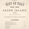 Map of the City of Troy West Troy and Green Islands, N.Y.