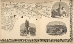 City of Troy [cont.]; St. Pauls Church ; St. Johns Church ; Troy Iron and Nail Factory