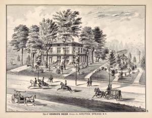 Res. of Charles Reed Union Av. Saratoga Springs N.Y.