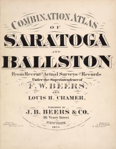 Combination Atlas of Saratoga and Ballston