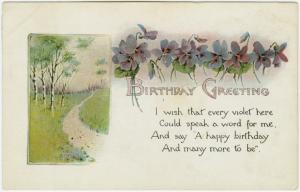 Birthday greeting.