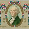 Washington's portrait in patriotic design]