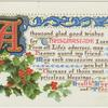 A thousand glad good wishes for Christmastide I send,...