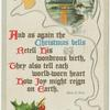 And as again the Christmas bells retell His wondrous birth,...