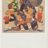 Santa with children].