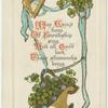 May Erin's harp of friendship sing, and alll good luck these shamrocks being.