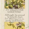 St. Valentine greeting.