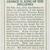 George H. King of the Helenes.