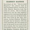 Harriet Haddon.
