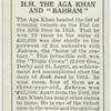 "H.H. The Aga Khan and ""Bahram""."