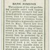 Bark ringing.