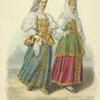 Zhenshchiny goroda Ostashkova v prazdnichnom nariade.
