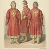 Sokolnichei kostium vremen tsaria Alekseia Mikhailovicha.