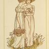 [Two girls with basket of flowers.]