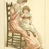 [Woman with girl sitting on chair.]