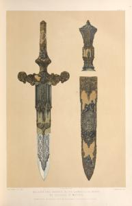 Dagger and sheath in the Damascene work, by Zuloago of Madrid.