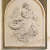 "The child Christ (""Christ Engel"") a bas relief in white marble by Rietschel of Dresden."