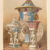 "Group of vases &c., by ""Minton"" of Stoke upon Trent."