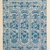 Indian scarf end embroidered at Dacca on white muslin.