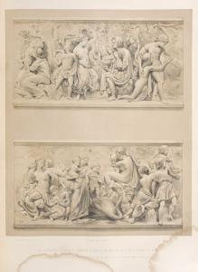The pleasures of public gardens, - a series of bas reliefs by F. Drake of Berlin.
