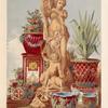 Terra cotta figure of Galatea & group of majolica garden vases, by Minton of Stoke-upon-Trent.