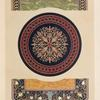 Florentine mosaic by Woodriff of Bakewell, and enamelled slate by Magnus of Pimlico.