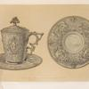Chocolate cup in silver by Lebrun of Paris.
