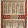 Altar and reredos designed by the late A. W. Pugin, carved in stone by Myers of London, and fitted-up by Hardman of Birmingham.